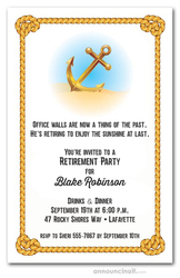 Anchor & Rope Retirement Invitations