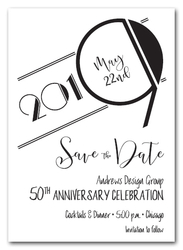 Art Deco Black Business Save the Date Cards