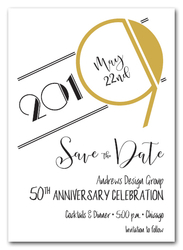 Art Deco Gold Business Save the Date Cards