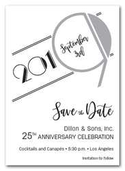 Art Deco Silver Business Save the Date Cards