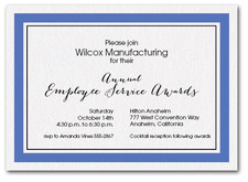 Blue Bordered Business Invitations