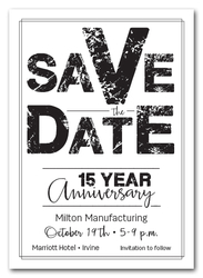 Edgy Black Business Save the Date Cards