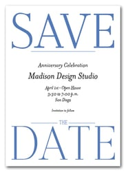 Bold Blue Business Save the Date