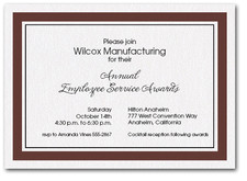 Brown Bordered Business Invitations