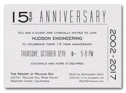 Image Of Corporate Anniversary Party Invitation Wording Business
