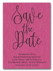 Hot Pink Business Save the Date