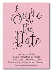 Pink Business Save the Date