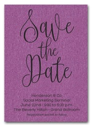 Purple Business Save the Date