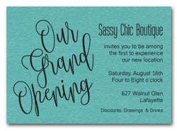 Turquoise Sparkle Grand Opening