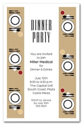Gold Table Dinner Party