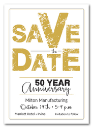 Edgy Gold Business Save the Date Cards