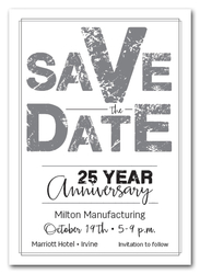 Edgy Silver Business Save the Date Cards