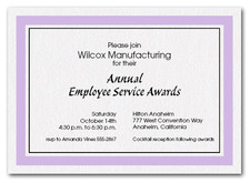 Lilac Border Business Invitations