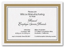 Oatmeal Bordered Business Invitations
