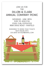 Picnic Table Summer Company Party Invitations