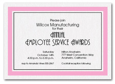 Pink Bordered Business Invitations