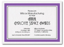 Purple Bordered Business Invitations
