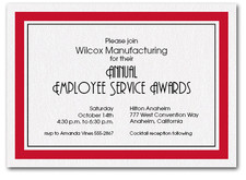 Red Bordered Business Invitations
