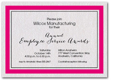 Shocking Pink Bordered Business Invitations