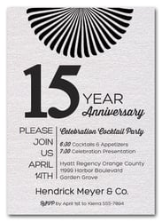 Sunburst Shimmery White Business Anniversary Invitations