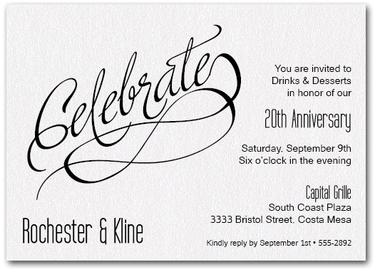 Celebrate shimmery white business invitations celebrate shimmery white stopboris Choice Image