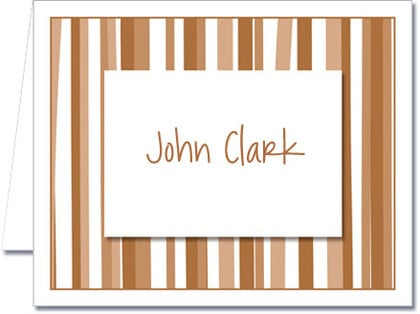 Note Cards: Mod Stripe Brown