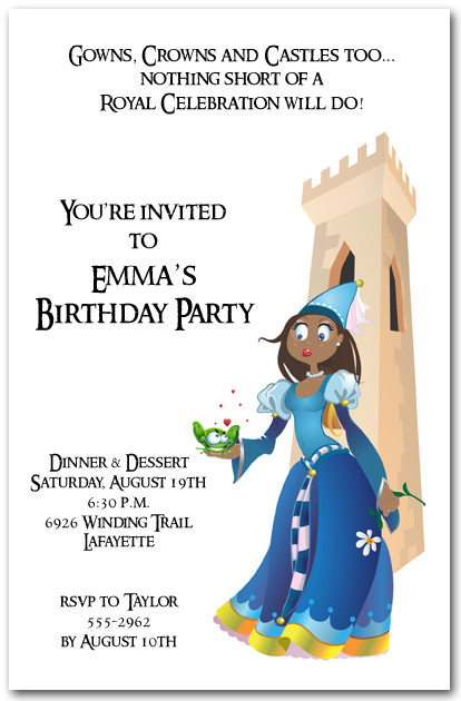Ethnic Princess & Lovesick Frog Invitations