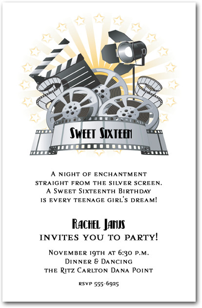 Movie Invitations Theater Invitations