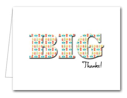 Note Cards: BIG Thanks Giftwrapped