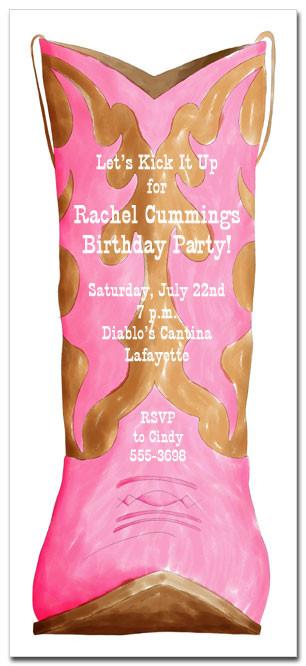 Childrens Western Birthday Invitations Cowboy Invitations Cowgirl