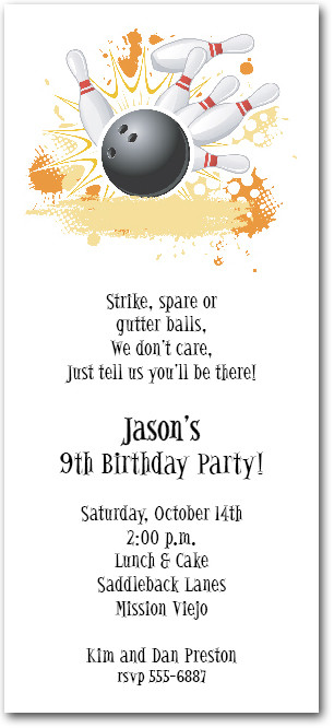 First Strike Bowling Invitation Bowling Birthday Invites