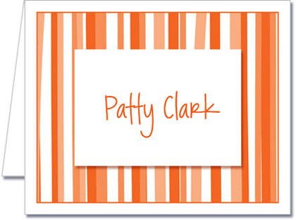 Note Cards: Mod Stripe Orange