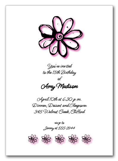 pink daisy invitations pink daisy birthday party invitations