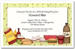 Pool Party Invitations Barbecue Fixings