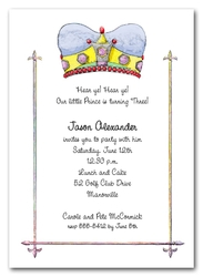 Blue Crown Prince Invitations