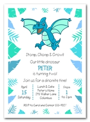 Pteranodon Dinosaur Birthday Invitations