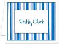 Note Cards: Mod Stripe Blue