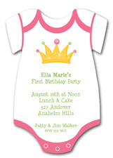 Princess Crown Onsie Diecut