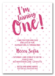 First Birthday Party Invitations St Birthday Invitations - Baby girl first birthday invitation ideas
