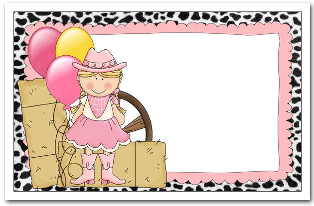Howdy Blonde Cowgirl Birthday Invitations