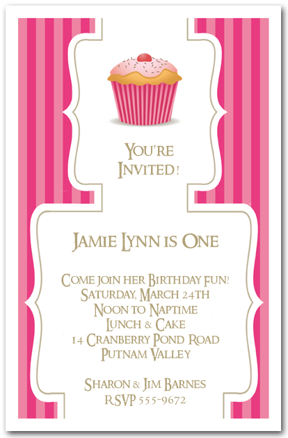 cupcake invitations Intoanysearchco
