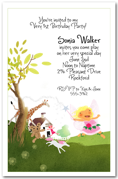 fairy dance party invitation  girl u0026 39 s birthday invitations