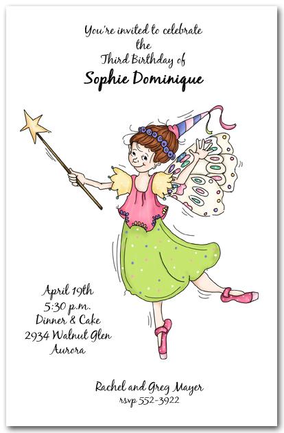 sassy fairy princess party invitation  girl u0026 39 s birthday