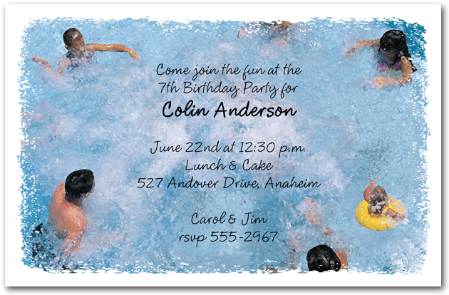 Splash It Up Pool Invitations