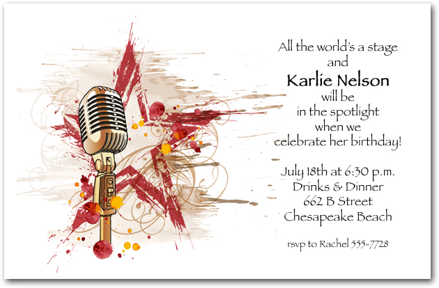 Step up to the Microphone Party Invitations