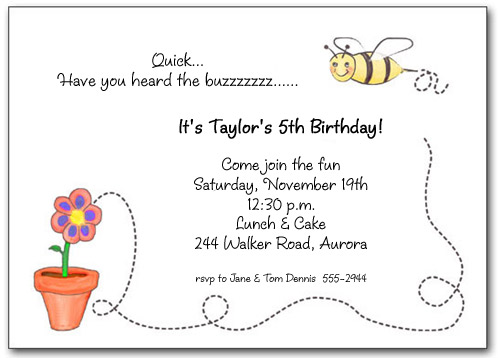 Bumble Bees Party Invitations