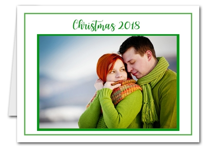 Green Christmas Photo Holder Holiday Cards