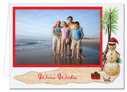 Red Sandman Holiday Christmas Photo Holder Cards