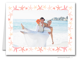 Starfish Photo Holder Holiday Christmas Cards (H)