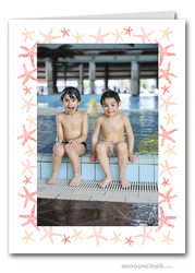 Starfish Photo Holder Holiday Christmas Cards (V)